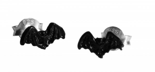 Silberohrstecker Tiril Black Bat