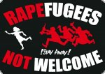 Aufkleber - Rapfugees not welcome